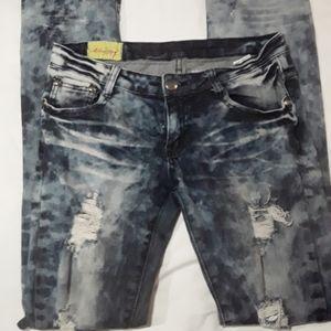 {Machine} Women's 27 Acid Washed Skinny Jeans